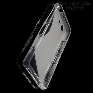 Силиконовый чехол для Sony Xperia Z3 Compact D5803 - S-образный Прозрачный