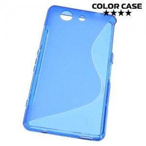 Силиконовый чехол для Sony Xperia Z3 Compact D5803 - S-образный Синий