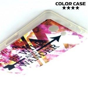 Силиконовый чехол для Sony Xperia Z3 Compact D5803 - с рисунком Яркие узоры