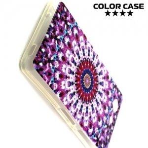 Силиконовый чехол для Sony Xperia Z3 Compact D5803 - с рисунком Розовые узоры