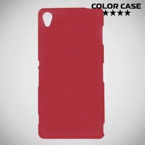 Силиконовый чехол для Sony Xperia Z3 - Матовый Красный