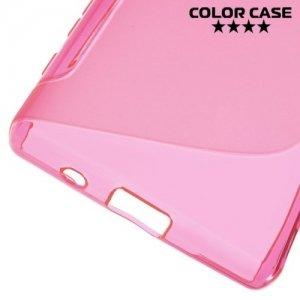Силиконовый чехол для Sony Xperia Z5 Compact E5823 - S-образный Розовый