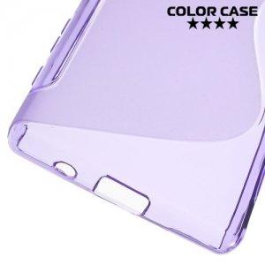Силиконовый чехол для Sony Xperia Z5 Compact E5823 - S-образный Фиолетовый
