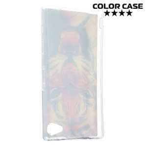 Силиконовый чехол для Sony Xperia Z5 Compact E5823 - с рисунком Тигр