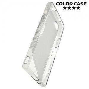 Силиконовый чехол для Sony Xperia Z5 Compact E5823 - S-образный Серый
