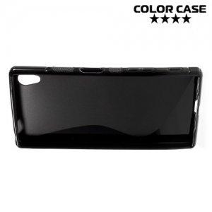 Силиконовый чехол для Sony Xperia Z5 - S-образный Черный