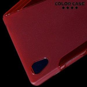 Силиконовый чехол для Sony Xperia Z5 - S-образный Красный