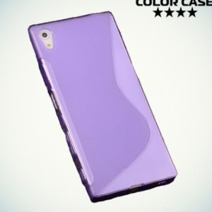 Силиконовый чехол для Sony Xperia Z5 - S-образный Фиолетовый