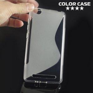 Силиконовый чехол для Xiaomi Redmi 3 - S-образный Прозрачный