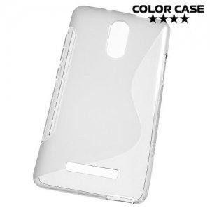 Силиконовый чехол для Xiaomi Redmi Note 3 - S-образный Серый