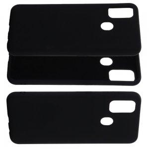 Силиконовый чехол мягкая подкладка из микрофибры для Huawei Honor 9A Черный