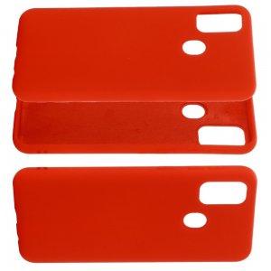 Силиконовый чехол мягкая подкладка из микрофибры для Huawei Honor 9A Красный