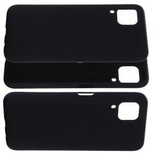 Силиконовый чехол мягкая подкладка из микрофибры для Huawei P40 Lite Черный