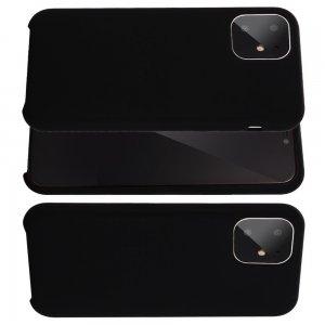 Силиконовый чехол мягкая подкладка из микрофибры для iPhone 11 Черный