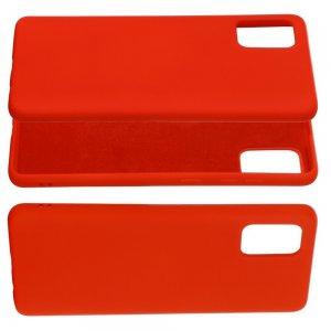 Силиконовый чехол мягкая подкладка из микрофибры для Samsung Galaxy A71 Красный