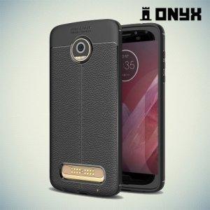 Силиконовый чехол под кожу для Motorola Moto Z2 Play - Черный