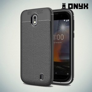 Силиконовый чехол под кожу для Nokia 1 - Черный