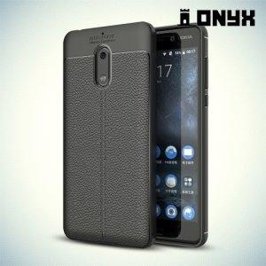 Силиконовый чехол под кожу для Nokia 6 - Черный