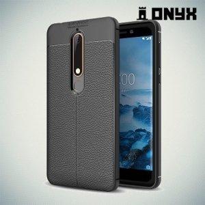 Силиконовый чехол под кожу для Nokia 6.1 2018 - Черный