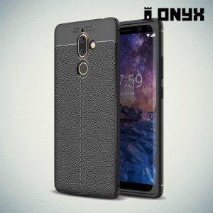 Силиконовый чехол под кожу для Nokia 7 Plus - Черный