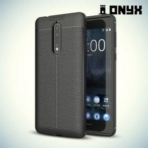 Силиконовый чехол под кожу для Nokia 8 - Черный