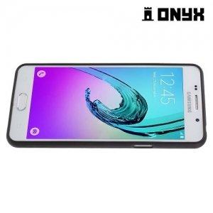 Силиконовый чехол под кожу для Samsung Galaxy A5 2016 SM-A510F - с рисунком Шашечный узор