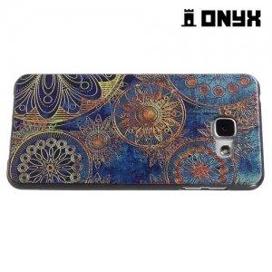 Силиконовый чехол объемный для Samsung Galaxy A5 2016 SM-A510F - с рисунком Ретро цветы