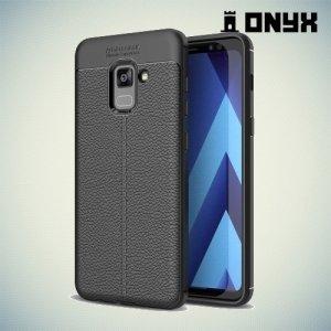 Силиконовый чехол под кожу для Samsung Galaxy A5 2018 SM-A530F - Черный