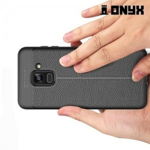 Силиконовый чехол под кожу для Samsung Galaxy A8 Plus 2018 - Черный