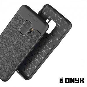 Силиконовый чехол под кожу для Samsung Galaxy S9 - Черный