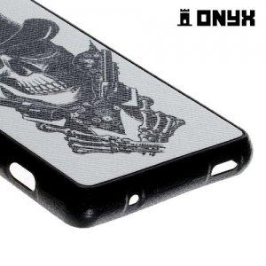 Силиконовый чехол под кожу для Sony Xperia Z3 Compact D5803 - с рисунком Череп ковбой