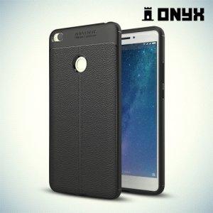 Силиконовый чехол под кожу для Xiaomi Mi Max 2 - Черный