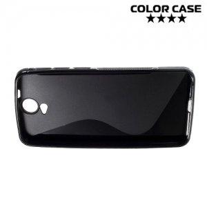 Силиконовый чехол для HTC One E9 Plus S-образный - черный
