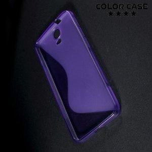 Силиконовый чехол для HTC One E9 Plus S-образный - Фиолетовый