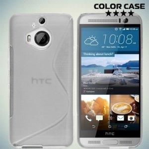 Силиконовый чехол для HTC One М9 Plus S-образный - Прозрачный