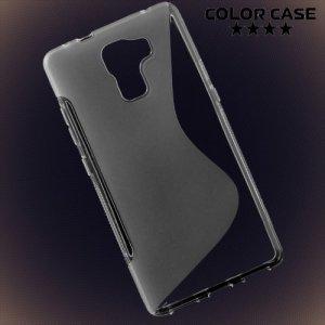 Силиконовый чехол для Huawei Honor 7 - Прозрачный S-образный