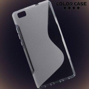 Силиконовый чехол для Huawei P8 Lite - Прозрачный S-образный