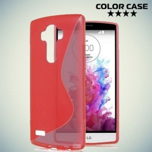 Силиконовый чехол для LG G4 ColorCase - Красный