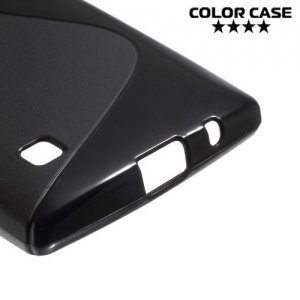 Силиконовый чехол для LG G4c H522y ColorCase - Черный