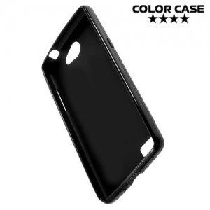 Силиконовый чехол для LG Max X155 Черный X-образный