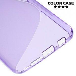 Силиконовый чехол для Samsung Galaxy A3 2016 SM-A310F - S-образный Фиолетовый