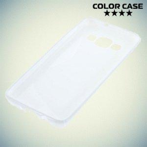 Силиконовый чехол для Samsung Galaxy A3 - белый S-образный