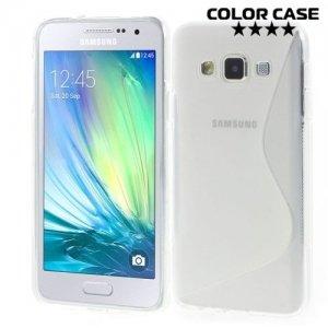 Силиконовый чехол для Samsung Galaxy A3 - прозрачный S-образный