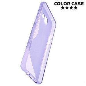 Силиконовый чехол для Samsung Galaxy A5 2016 SM-A510F - S-образный Фиолетовый