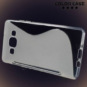 Силиконовый чехол для Samsung Galaxy A5 - прозрачный S-образный
