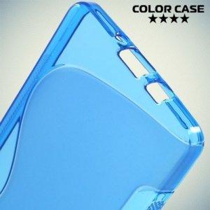Силиконовый чехол для Samsung Galaxy A5 - синий S-образный