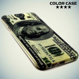 Силиконовый чехол для Samsung Galaxy A8 с рисунком Доллар