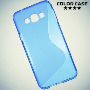 Силиконовый чехол для Samsung Galaxy A8 - синий S-образный