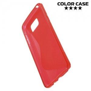 Силиконовый чехол для Samsung Galaxy Note 5 - S-образный Красный