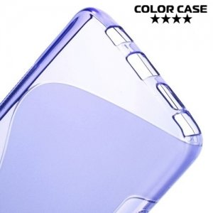 Силиконовый чехол для Samsung Galaxy Note 5 - S-образный Фиолетовый